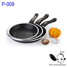 2015 promotional aluminium flat frypan with edge cookware sets