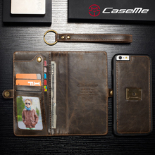 2017 CaseMe new design for iphone 6 plus leather case,mobile phone accessories, leather wallet case