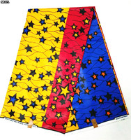 star cotton printed fabric african real wax prints fabric 6 yards on sale 7colors ! NR371