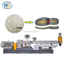 Haisi extrusion plastic tpr sole plastic granules making machine