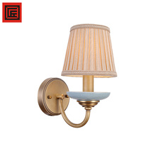 Christmas house decorative E14 bronze fabric wall lamp