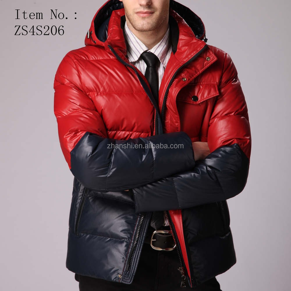 High quality 90% down 10% feather bomber down men jacket for winter