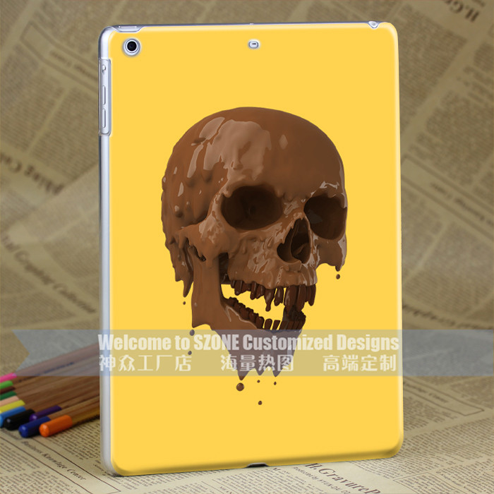 skull plastic cover for tablet pc custom covers for ipad air