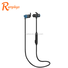 Ranphys Magnetic Sport Sweatproof Stereo Earphone Wireless Bluetooth Earphone with Microphone