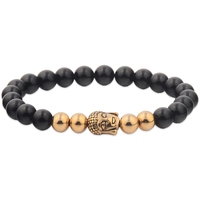 Wholesale Solid Gold Plated Stainless Steel Hand Mens Bead Bracelets