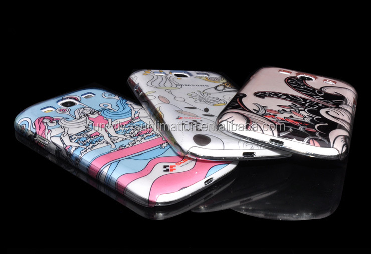 Transparent blank phone cases for Samsung S3/ Blank 3D sublimation phone cases for Iphone