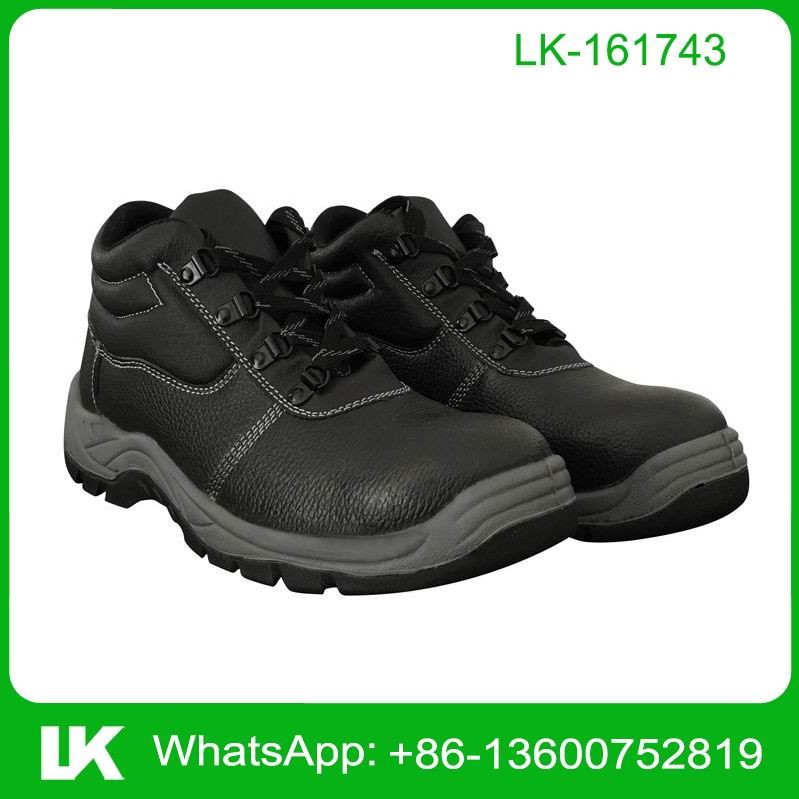 PU Sole Black Embossed Man Workers S3 Safety Shoes EN345