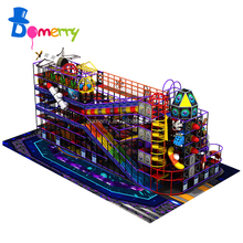 2017 new product children inflatable indoor wooden playground franchise