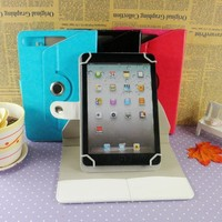 Universal 360 degree rotating case for ipad 2 3 4 5 flip style design leather case for ipad air 2 wholesale