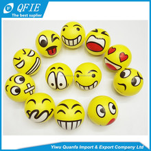 High quality 5cm soft foam PU emoji anti stress ball for promotional toys