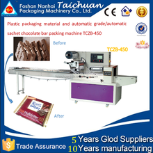 Plastic packaging material and automatic grade/automatic sachet chocolate bar packing machine TCZB-450