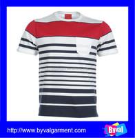 OEM Manufacturer Custom T Shirt Yarn Dyed Striped T Shirts Wholesale Cheap Price