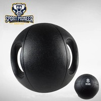 8KG Gym Weight Ball With Handles,boxing strength weight training heavy duty rubber