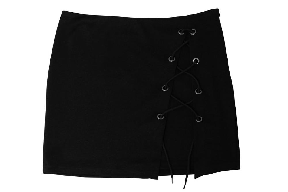 European and American women's sexy bandage with a split skirt