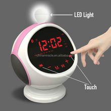 bluetooth speaker with travel alarm clock