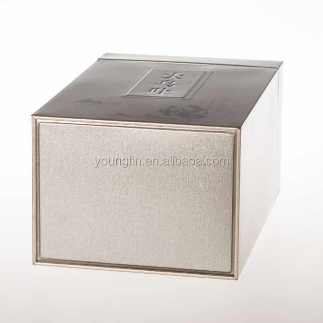food grade large right angle tea storage metal tin box