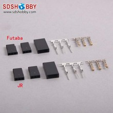 DIY Futaba/ JR Type 3 Pin Servo Battery Connector/Plug Set (Female and Male)