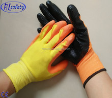 en388 personalized nylon/polyester coated nitrile construction safety