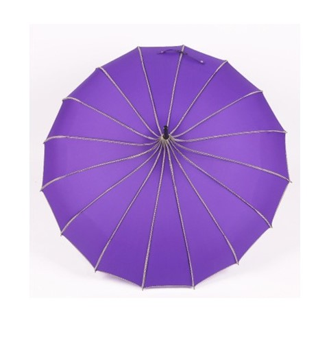 High quality pagoda red straight umbrella manual open Umbrella