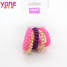 Fancy Colorful elastic hair band accessories telephone wire hair band