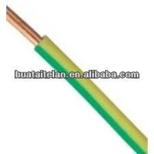BV Approved electric wire,120mm copper conductor,PVC Insualtion,Yellow/Green earth cable