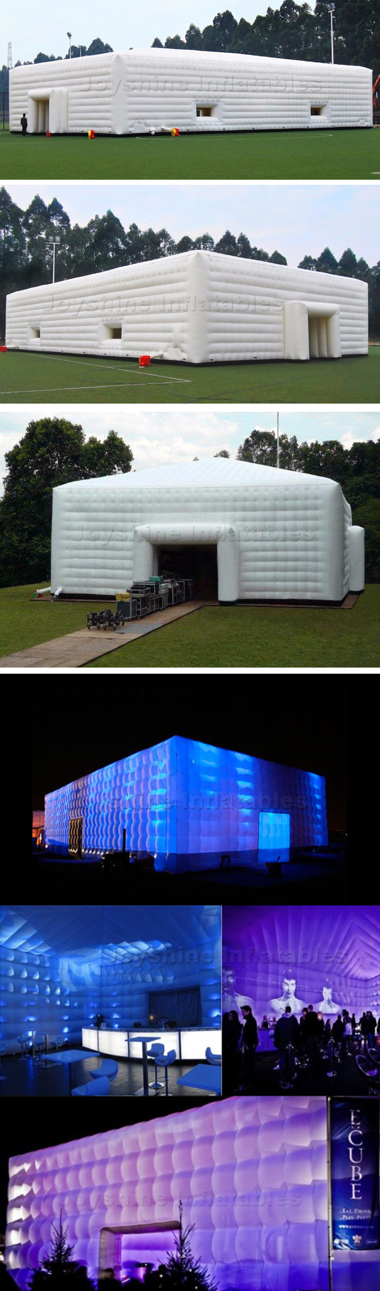 Giant Square Inflatable Cube Exhibition Tent Party Wedding Events Tent Cube For 200 People