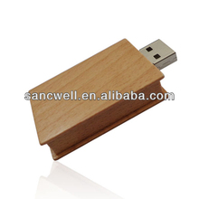 Wooden Book Shaped USB Flash Drive