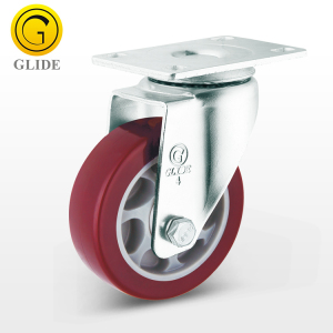 Medium Duty 75mm 100mm 125mm PU Swivel Wheel Caster