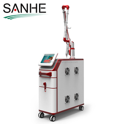 2018 Beauty Salon / Spa use Most Professionally 2 probes 1064&532nm tattoo remove q-switch nd:yag laser