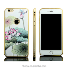 2015 high technology anti-radiation beautifull cell phone case plant pattern OEM/ODM
