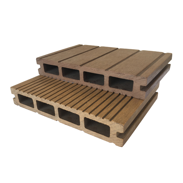 Wood Plastic Composite Floor hollow composite decking board with moderate price