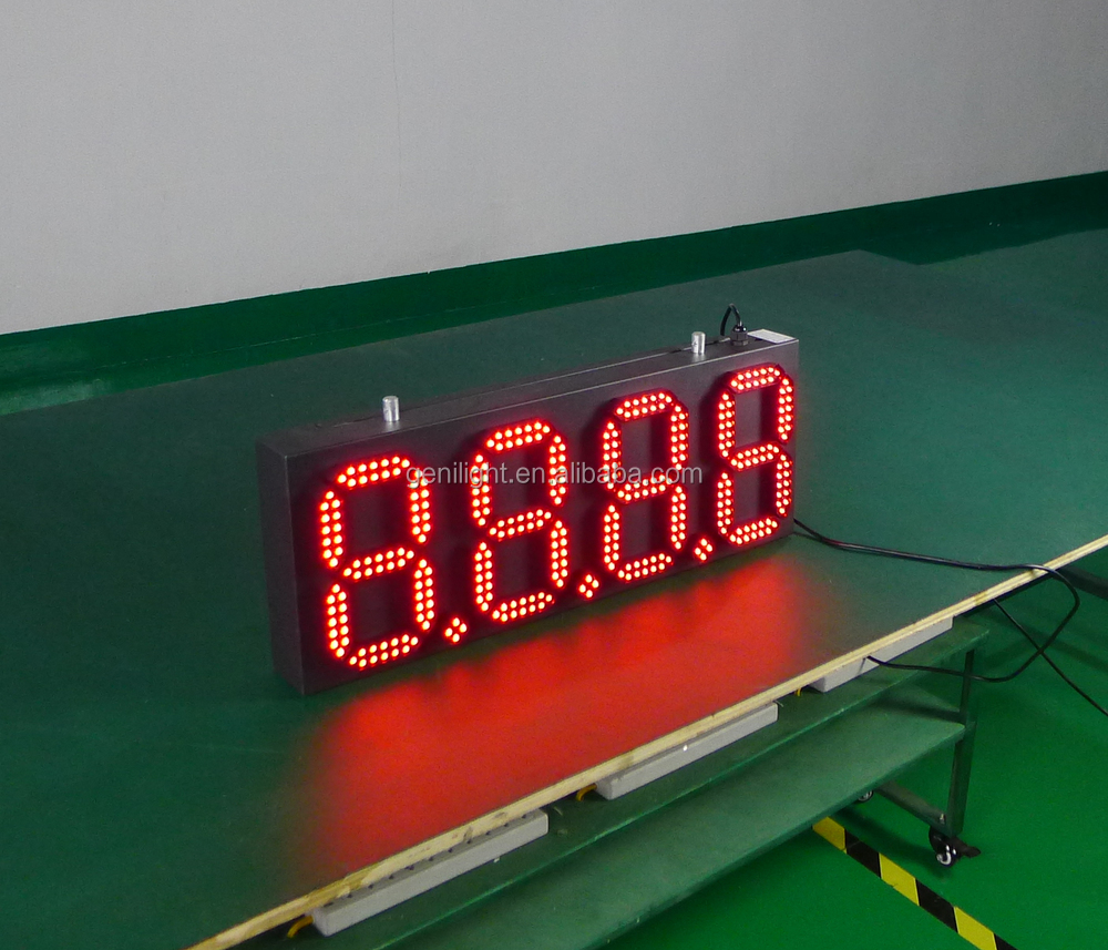 led display gas station