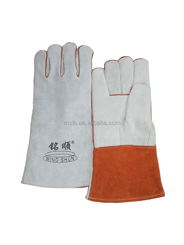 welding shields personal protective equipment (PPE) durable cowhide MIG welder gloves