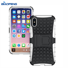 Tire Texture Skin Heavy Shockproof Armor Rubber Hard Protective Mobile Cover Phone Case For iPhone X
