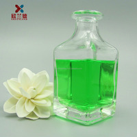 wholesale 150ml clear glass aroma bottles with decorate corks