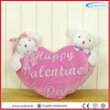 two teddy bear plush toys valentines gift with a heart