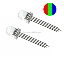 Full Color 10mm 4pin LED Diodes Tri-color Red/Green/Blue Clear Round Lens emitter lighting LEDs rgb