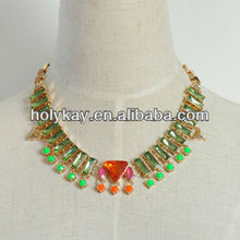 Fashion acrylic name necklaces 2014 trendy european jewelry