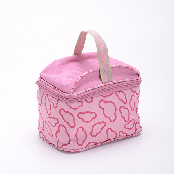 High Quality Pink Picnic Bag Cosmetic Cooler Bag for Girls or Baby