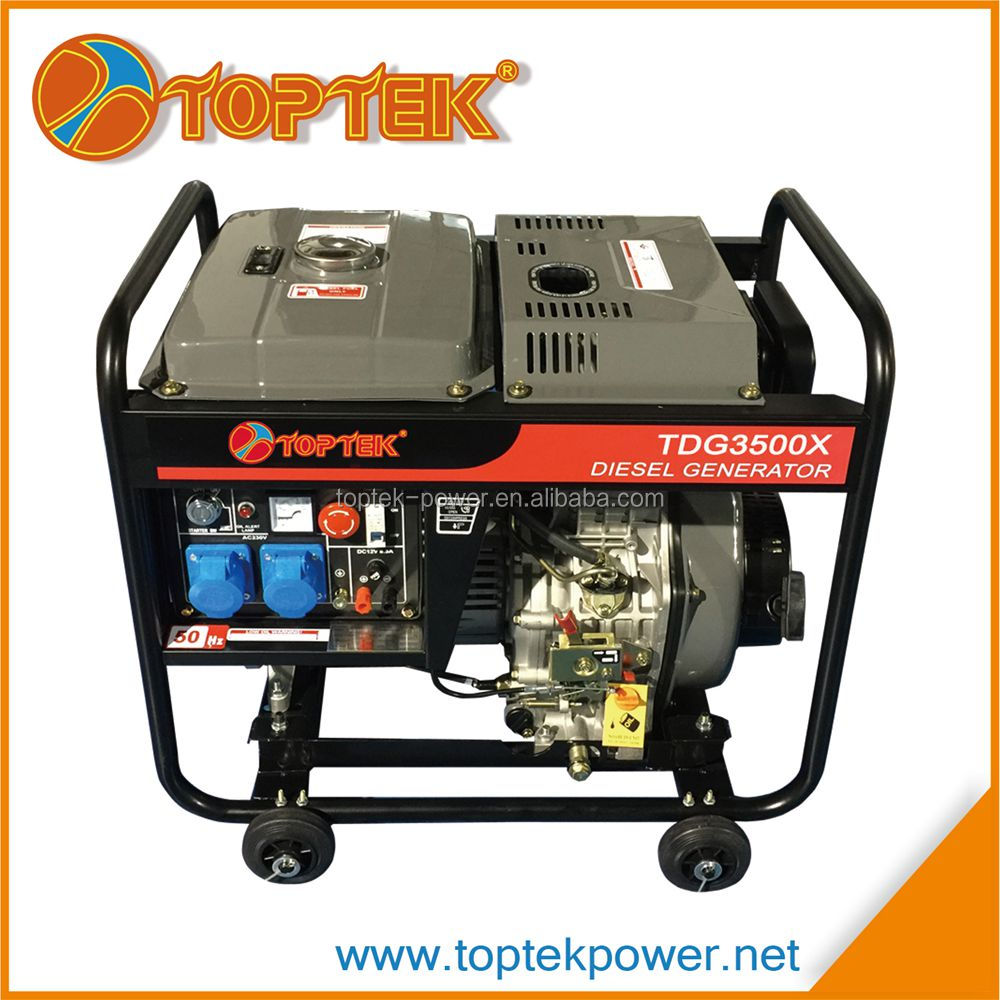 hot sell small portable generator diesel 3kva with price