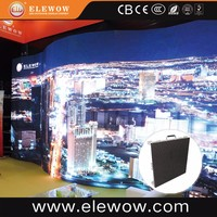 Indoor curved screen led flat panel displays for rental