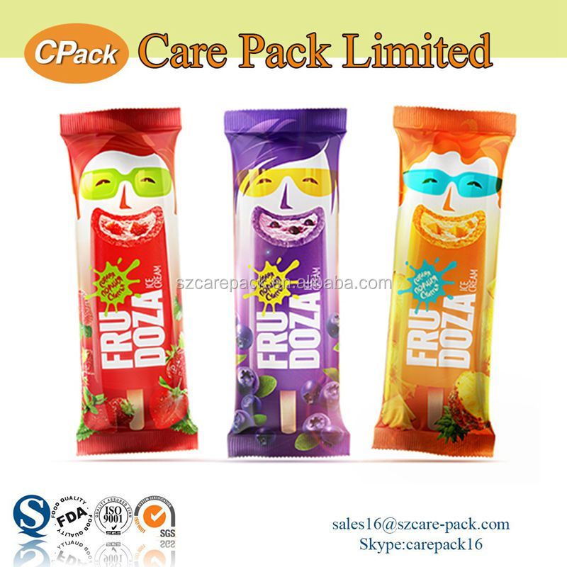 Own design sealing laminated popsicle plastic wrapper bag