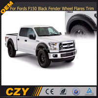 For Fords F150 Black Fender Wheel Flares Trim