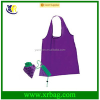 Grape Fruit Shape Eco-friendly Folding Polyester Reusable Convenience Shopping Bag Grocery Storage Promotion Bags