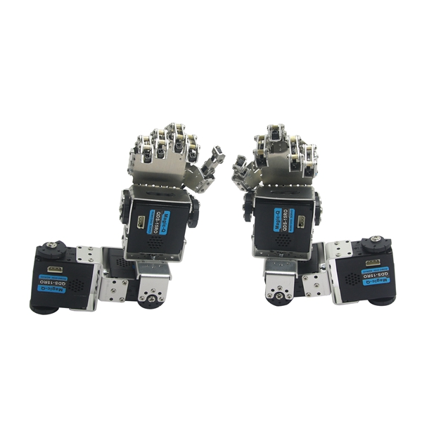 Humanoid Robot Left Hand Right Hand Arm with Fingers Manipulator & Servo for DIY Robotics