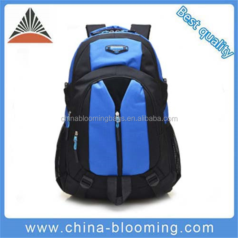 New Arrival Blue Nylon Computer Backpack For Teenagers