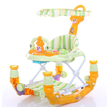 Wholesale Factory Direct Sale Best quality height adjustable baby walker with rocker/ Baby musical walker with toys
