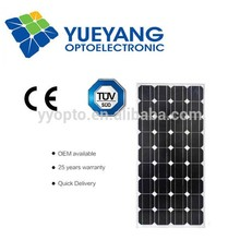 High efficient Solar modules Monocrystaline 100W good quality energy