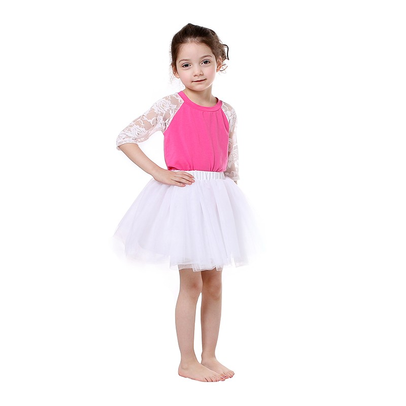 Wholesale summer baby kids white girls tutu dress ballet tutu tutu skirt