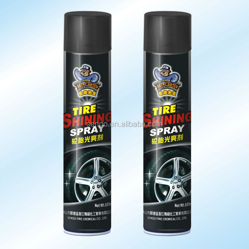 Powerful and cheap car care product/car tyre shine cleaning spray